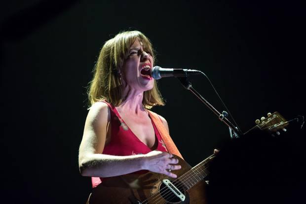 Feist performs during the Polaris Music Prize gala in Toronto on Monday, Sep. 18, 2017.