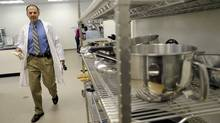 Paul Medeiros of the Guelph Food Technology Center walks through one of their food labs in Guelph, Ont. (J.P. MOCZULSKI/J.P. Moczulski for The Globe and Mail)
