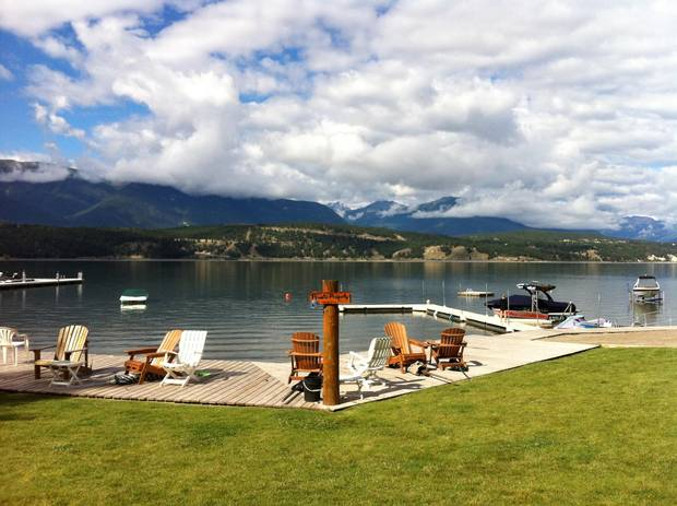 A beach shared by seven families in B.C.'s Columbia Valley, where Calgary resident Steve Trimble owns a vacation property.