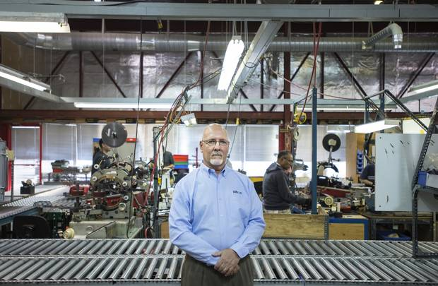 Steve Nolan, vice-president of Plitron Manufacturing Inc., is shown in Toronto on Nov. 2, 2015.