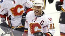 Calgary Flames' Jerome Iginla celebrates (PETER NEWCOMB/REUTERS)