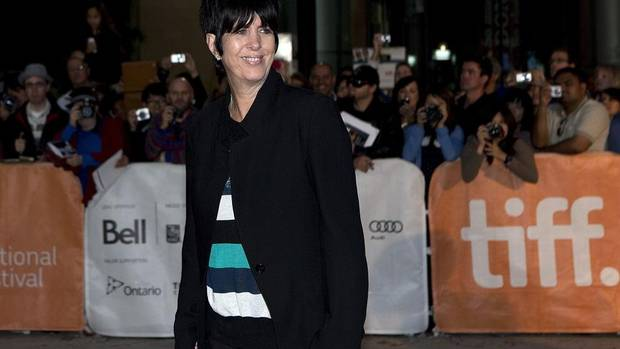 "Hit-song composer Diane Warren poses for a photo on the red carpet for the movie ""Song for Marion"" at the Toronto International Film Festival on Saturday. (CP)"