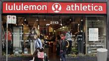 A Lululemon outlet in B.C. (RICHARD LAM/The Canadian Press)