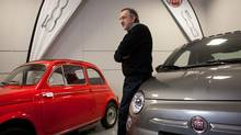 Sergio Marchionne, CEO of Chrysler Group LLC and Fiat, poses for a photo at the grand opening of Maranello Fiat in Vaughan, Ont. (Brett Gundlock/Brett Gundlock for The Globe and Mail)