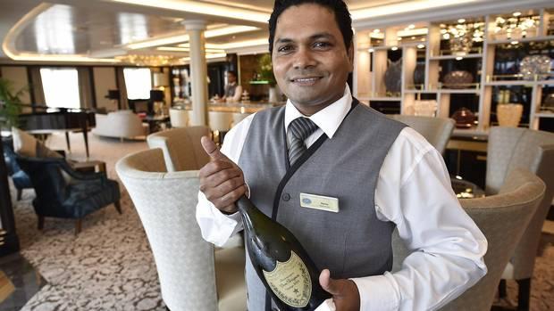 Wine service on the Regent Seven Seas Explorer.