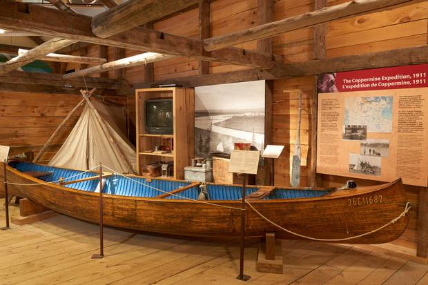 The museum's Coppermine Canoe display.