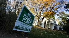 Local residents in Oakville, Ont., voiced opposition to the gas-fired power plant that TransCanada Corp. was planning to build there until 2010, when the McGuinty government pulled the plug on the project. (PETER POWER/THE GLOBE AND MAIL)