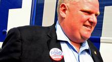 Toronto mayoral candidate Rob Ford arrives at a Mississauga banquet hall on Sept. 19, 2010. (Tim Fraser/Tim Fraser for The Globe and Mail)