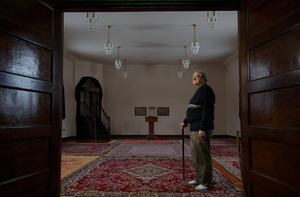 Richard Awid in the Al Rashid Mosque, where he used to volunteer as a historical interpreter, in Edmonton, Alberta on Wednesday, February 1, 2016. Mr. Awid's father, Ahmed Ali Awid, helped to build the Mosque in1938, making it the oldest in Alberta.