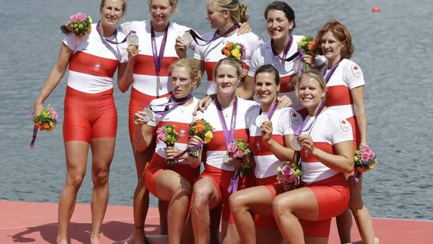 SILVER - Lesley Thompson-Willie, Andreanne Morin, Darcy Marquardt, Ashley Brzozowicz, Natalie Mastracci, Lauren Wilkinson, Krista Guloien, Rachelle Viinberg, and Janine Hanson, women's rowing eight