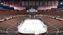 The empty Joe Louis Arena in Detroit. (Paul Sancya/AP)