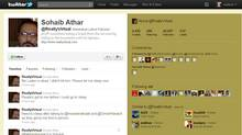A screencapture of Sohaib Athar's Twitter page (Twitter.com)