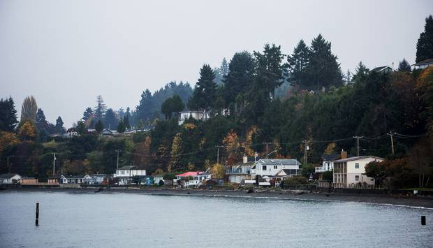 Seaside homes are pictured in Qualicum Beach, B.C.