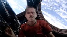 "Screen grab of Chris Hadfield's video of ""Space Oddity"""