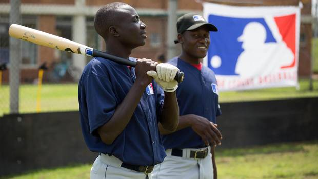 Dicken Okwenye and Ezekiel Kisitu, both from Uganda, are some of the young African baseball players who took part in Major League Baseball's