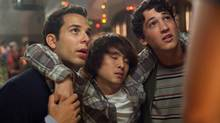 Skylar Astin, Justin Chon and Miles Teller in a scene from 21 & Over. (John Johnson/AP)
