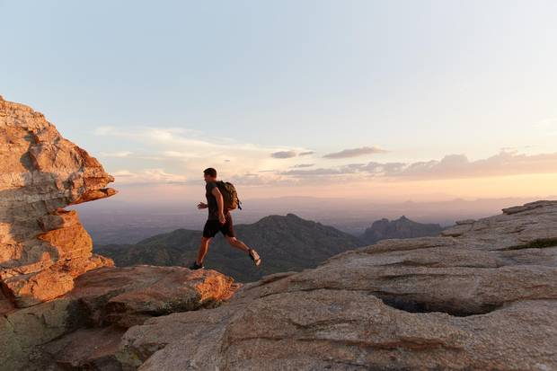Arizona's iconic red rock country provides a picturesque setting for an evening hike.
