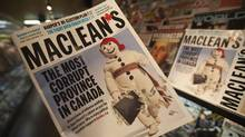 The Oct. 4, 2020, edition of Maclean's magazine. (Jonathan Hayward/Jonathan Hayward/The Canadian Press)