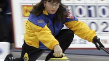 Alberta's Cathy King led Canada to a 21-1 win over Russia at the world curling senior championship on Sunday. (file photo) (ADRIAN WYLD/CP)