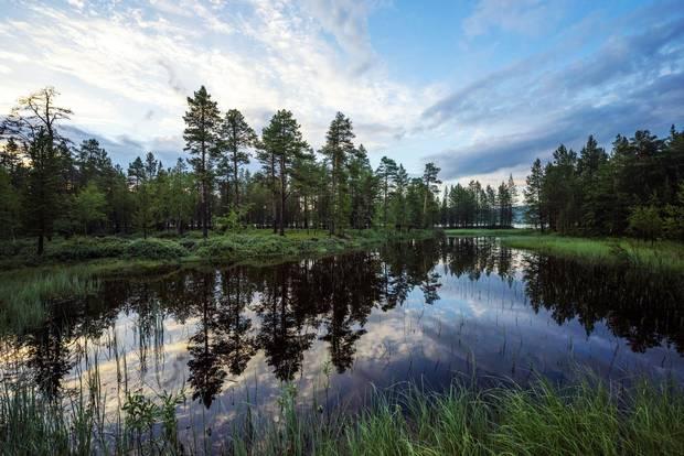 The sun never sets in Saariselkä, Finland.