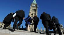 One major announcement from last week's federal budget is that normal retirement age for new public servants will be raised from 60 to 65. (SEAN KILPATRICK/THE CANADIAN PRESS)