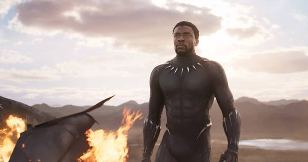 Chadwick Boseman as King T'Challa in Black Panther.