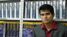 Photo of Jordan Guitierrez, owner of librerialeo.com.mx, an online company that sells Spanish language medical books to students in Mexico