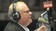 Toronto mayor Rob Ford during his weekly radio show with brother Doug at the CFRB radio studio (J.P. Moczulski For The Globe and Mail)