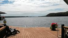 This 4-acre waterfront estate on Lake of Bays offers a sandy beach, 2-slip boathouse and a 3-storey home with such luxuries as an elevator, wine cellar and sprawling master suite. Co-listed by Steve Leonard of Royal LePage Lakes of Muskoka Realty and Paul Crammond of Chestnut Park Real Estate Ltd., the property has an asking price of $3,595,995, reduced two weeks ago from $$3.995-million. (Royal LePage Lakes of Muskoka Realty)