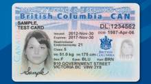 A sample of the new B.C. Services Card has been posted to the province's website.