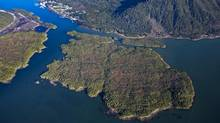 Pacific NorthWest LNG is proposing to build an LNG export terminal on Lelu Island. Petroleum Brunei has agreed to acquire a 3-per-cent stake in Pacific NorthWest LNG, a project led by Petronas. (PACIFIC NORTHWEST LNG)