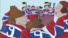 The Sweater, animated film based on Roch Carrier's classic children's story, The Hockey Sweater. Directed by Sheldon Cohen. (National Film Board)
