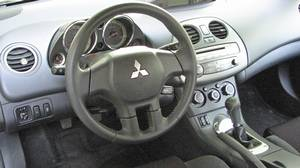 Inside the 2011 Mitsubishi Eclipse.