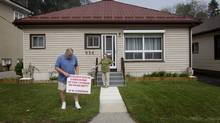 The Milners are relieved their home of 40 years wasn't chosen for expropriation. (Peter Power/The Globe and Mail)