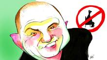 Drawn Off Topic: Talk-show host Mike Bullard on sedentariness (Anthony Jenkins/The Globe and Mail)