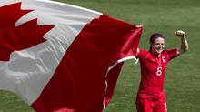 Canada midfielder Diana Matheson as seen during the bronze medal game at the 2012 Summer Olympics (Frank Gunn/The Canadian Press)