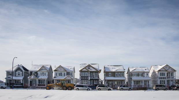 Homes under construction in a new Calgary subdivision.