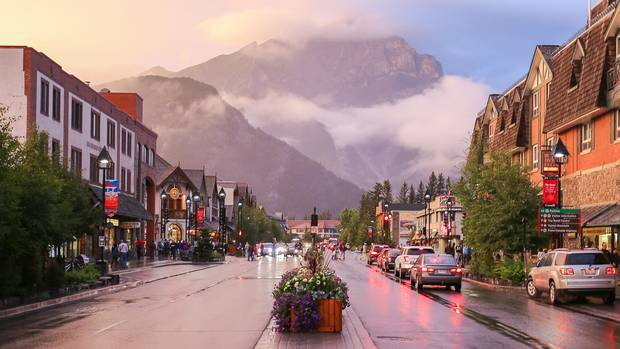 Downtown Banff, Alberta.