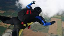 Skydiver in freefall. (Jeff McDonald)