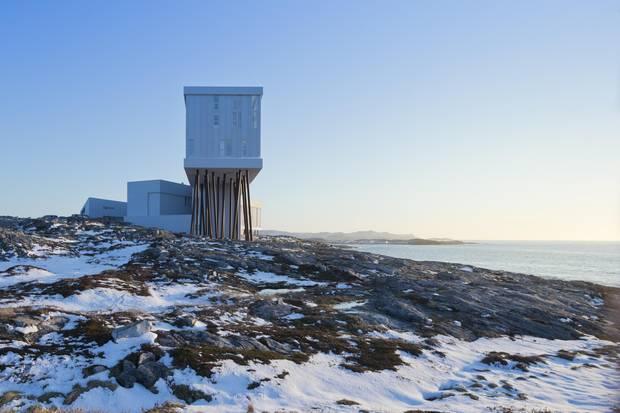 Iwan Baan's photograph of the Fogo Island Inn in Newfoundland.