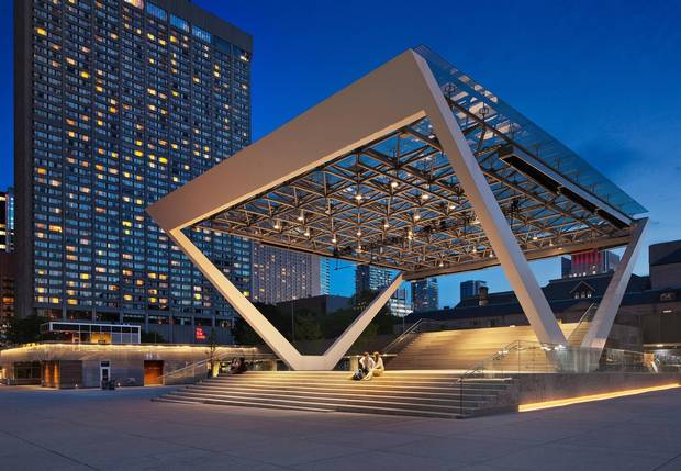 The Governor General's jury honoured three projects in Toronto with a strong bent toward the public realm, including the revitalization of Nathan Phillips Square.