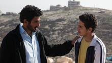 Bethlehem tells the story of an Israeli agent played by Tsahi Halevi, left, and a troubled teen informant Shadi Mar`i. (Mongrel Media)