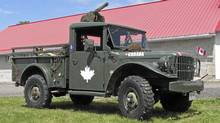 Russ Cassidy's 1955 Dodge M37 includes a .30 calibre Browning machine gun (decommissioned). (Bob English for The Globe and Mail)
