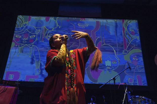 Lido Pimienta performs at Venus Fest in Toronto on Sept. 30.