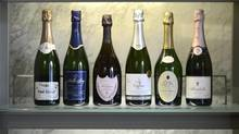 Six of the sparkling wines reviewed by Beppi Crosariol. (Fred Lum/The Globe and Mail)