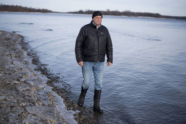 Rick Blanchard walks along the shoreline of his property on Lake St. Lawrence, between Lake Ontario and the St. Lawrence River. The nearby Moses-Saunders dam is used to regulate the water levels, and last year he was one of several people to question the water-management plan.