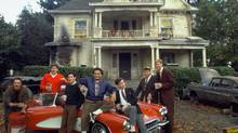 Bruce James, James Widdoes, John Belushi, Peter Riegert, Stephen Furst, Thomas Hulce and Tim Matheson in Animal House.