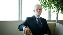 CEO of the Hospitals of Ontario Pension Plan, John Crocker in his office. (Charla Jones/The Globe and Mail)