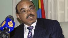 Ethiopia's Prime Minister Meles Zenawi speaks at a news conference in Addis Ababa January 10, 2007. (ANDREW HEAVENS)