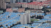 A residential area is seen in Pudong district in Shanghai October 26, 2011